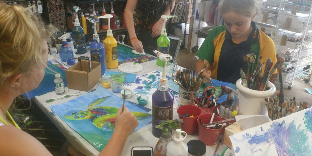 Kids Art Class at Redbird Studio in North Brisbane