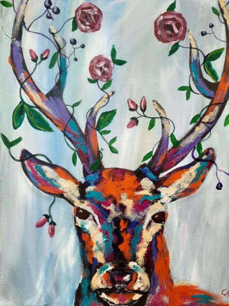 Paint a Deer at Redbird Art Studio