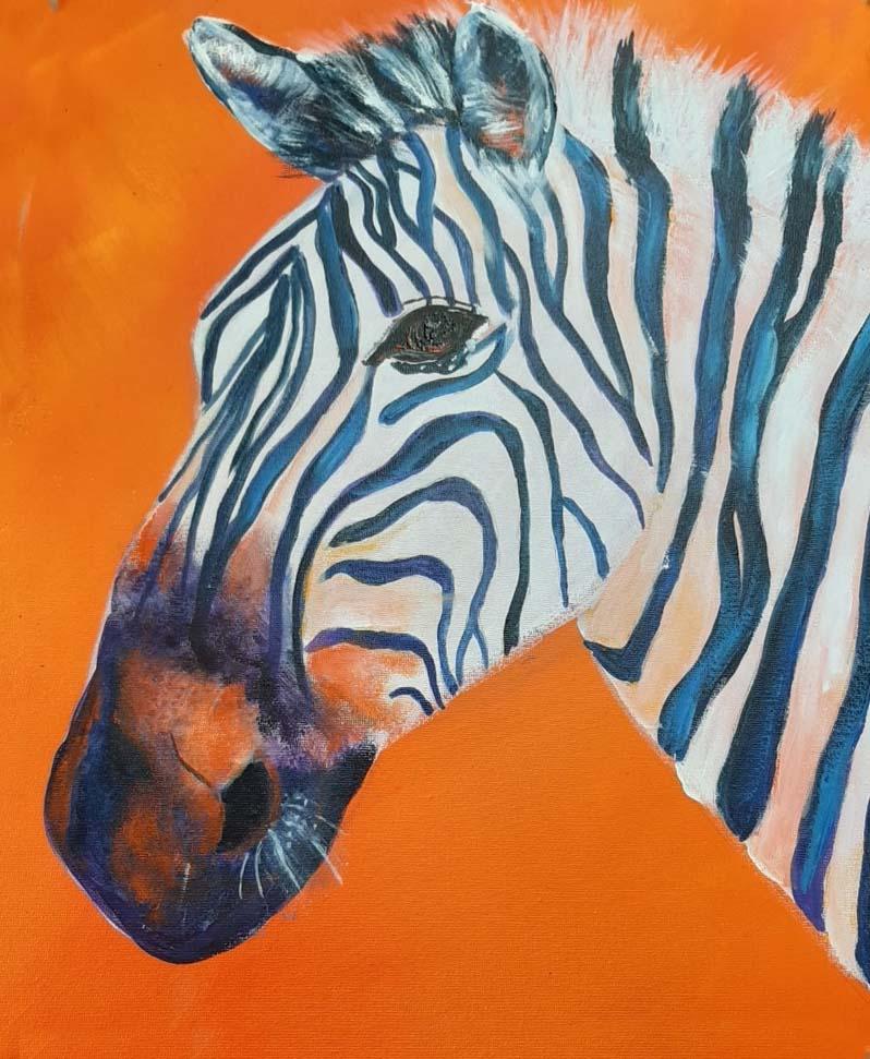 Paint A Zebra at Redbird Studio